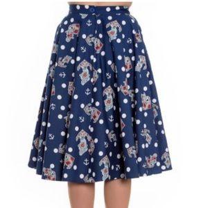 Hell Bunny polka dot, full skirt